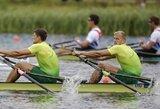 Visos trys lietuvių valtys žengė į pasaulio irklavimo čempionato A finalus