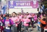 Vardan kilnaus tikslo bėgikai Kauną nudažė rožine spalva – surinkta rekordinė paramos suma