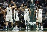 """""""Bucks"""" dar kartą sutriuškino """"Pistons"""" komandą"""
