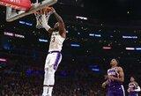 """17 taškų deficitą panaikinusi """"Lakers"""" nepaliko vilčių varžovams"""