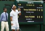 """Prisišnekėjusiam F.Fognini gresia diskvalifikacija """"Didžiojo kirčio"""" turnyruose"""