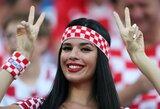 Pamatykite: spalvingi Kroatijos ir Nigerijos sirgaliai