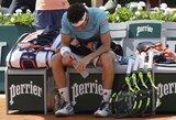 """M.Cecchinato pasaką """"Roland Garros"""" pusfinalyje užbaigė D.Thiemas"""