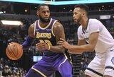 """""""Lakers"""" išsivežė lengvą pergalę iš Memfio"""