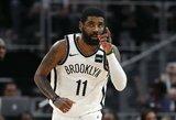 """NBA krepšininkus sezono nutraukimui buriantis K.Irvingas: """"Nesu už sisteminį rasizmą"""""""