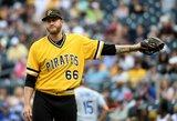 """Trumpam į MLB grįžęs D.Neverauskas sužaidė dvejas rungtynes prieš """"Dodgers"""""""