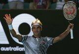 """R.Federerio jau trečiajame """"Australian Open"""" rate laukia varžovas iš pirmojo dešimtuko"""