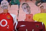 Baltarusiai futbolo stadiono tribūnas užpildė...virtualiais fanais