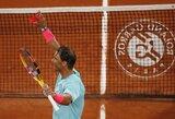 "R.Nadalis ""Roland Garros"" startavo pergale prieš baltarusį, D.Thiemas eliminavo M.Čiličių"