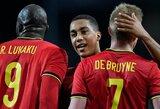 Užtikrintai danus nugalėjusi Belgijos rinktinė iškovojo bilietą į finalines Tautų lygos kovas