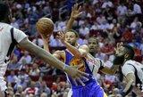 """S.Curry atvedė """"Warriors"""" į pergalę Hiustone"""