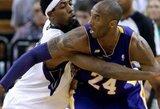 """Kovoje dėl vietos atkrintamosiose – """"Lakers"""" ir """"Jazz"""" pergalės"""