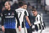 """""""Juventus"""" sulaukė rimto pasipriešinimo, bet pateko į taurės ketvirtfinalį"""