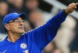 """""""Chelsea"""" strategas M.Sarri prieš atsakomąsias rungtynes su """"Dynamo"""" skundėsi bloga aikštės būkle"""