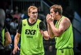Įspūdingą lietuvių žygį serbai sustabdė pasaulio 3x3 turo finale