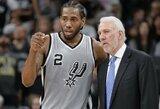 """""""Spurs"""" treneris paskyrė susitikimą K.Leonardui"""