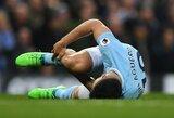 """""""Manchester City"""" puolėjui S.Aguero atlikta kelio operacija"""