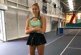 A.Lukošiūtė buvo per tašką nuo sensacijos moterų teniso turnyre Didžiojoje Britanijoje
