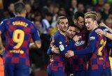 """Ispanijoje – L.Messi """"hat – trickas"""" ir triuškinama """"Barcelonos"""" pergalė"""
