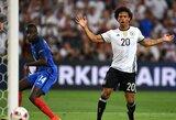 Nugalėtojų titulą ginsiantys vokiečiai paskelbė sudėtį pasaulio čempionatui, iš jos išbrauktas L.Sane