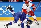 Rusijos ledo ritulininkai įvardino pralaimėjimo priežastis, o atsakomybę dėl pralaimėjimo slovakams prisiėmė treneris