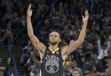 """Išskirtinį pasitikėjimą savimi rodęs S.Curry vedė """"Warriors"""" į pergalę"""