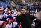 K.Jong Uno antrininkas ledo ritulio rungtynėse suerzino Šiaurės Korėjos apsauginius