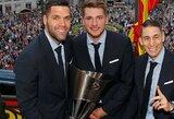 Ispanai pasitiko Eurolygos čempionus, gerbėjai prašė L.Dončičiaus likti