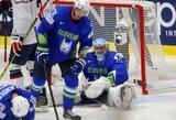 Amerikiečiai pasiuntė Slovėnijos ledo ritulininkus į žemesnį divizioną, čekai – ketvirtfinalyje