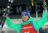 K.Dombrovskis pasaulio biatlono taurės persekiojimo lenktynėse nepagerino savo pozicijos