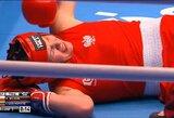I.Lešinskytė pasaulio čempionate jau pirmajame raunde nugalėjo su ašaromis akyse ringą palikusią E.Wojcik
