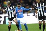 """""""AS Roma"""" nesugebėjo įveikti """"Serie A"""" lygos autsaiderės"""