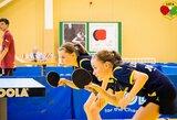 Lietuvos stalo tenisininkės apmaudžiai nepateko į Europos jaunučių čempionato pusfinalį