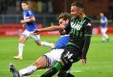 """""""Sampdoria"""" ir """"Sassuolo"""" akistatoje užfiksuotos nulinės lygiosios"""