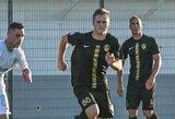 L.Mėgelaitis su komanda žengė į kitą taurės etapą, D.Nakrošius rungtynių nebaigė dėl traumos