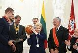 Krepšinio rinktinei - valstybės apdovanojimai Lietuvos žmonių vardu