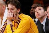 """""""Lakers"""" rekomenduoja P.Gasoliui procedūras, dėl kurių veikiausiai tektų praleisti Europos čempionatą"""