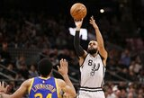 """Nuvylusias NBA lyderių rungtynes laimėjo """"Spurs"""" komanda"""