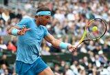 "R.Nadalis ""Roland Garros"" turnyre dvi dienas vargo su antrojo šimtuko žaidėju"