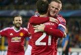 """W.Rooney driokstelėjo, """"Man United"""" tęsia kovą Čempionų lygoje"""