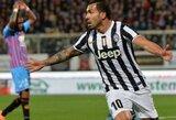 """""""Juventus"""" minimaliu rezultatu nugalėjo mažumoje likusią """"Catania"""""""