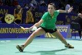 A.Stapušaitytė pasaulio badmintono čempionate neatsilaikė prieš pajėgią Singapūro žaidėją
