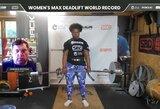 A.Thompson net du kartus pagerino pasaulio moterų štangos atkėlimo rekordą
