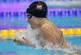 R.Meilutytė pateko į 100 m krūtine rungties finalą plaukimo varžybose Monake