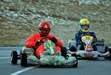 Kartingo lenktynininkai žiemą išvarė Aukštadvaryje