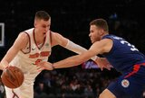 """""""Knicks"""" po didžiulės pertraukos nukovė """"Clippers"""", kuriai tai – devintas pralaimėjimas iš eilės"""