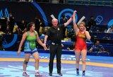 K.Gaučaitė pasaulio imtynių čempionate – pergalingas startas ir nesėkmė antrame rate