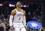 R.Westbrookas trečią sezoną iš eilės baigs su trigubo dublio vidurkiu