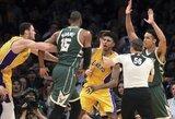 NBA nubaudė tris krepšininkus