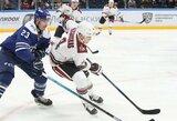 """N.Ališauskas KHL lygoje pasižymėjo rezultatyviu perdavimu, """"Dinamo"""" iškovojo tašką prieš lygos grandus"""